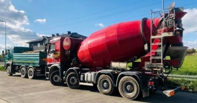 Zatrzymana betoniarka ważyła prawie 43 tony zamiast dopuszczalnych 34.