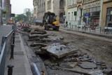 Wrocław: Remont Krupniczej. Na ulicy nie ma już asfaltu i torowiska (FILMY, GALERIA ZDJĘĆ)