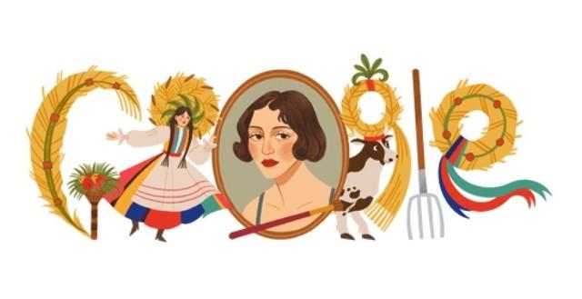 Zofia Stryjeńska w Google Doodle. 13 maja Google przypomina postać znanej polskiej malarki i graficzki.