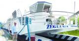 Augustów. Największy w kraju statek żeglugi śródlądowej wypływa w rejs