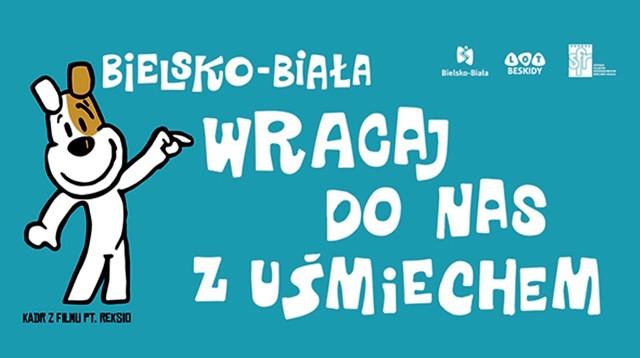 Wizerunek Reksia na billboardach ma zachęcić turystów do częstych odwiedzin Bielska-Białej.