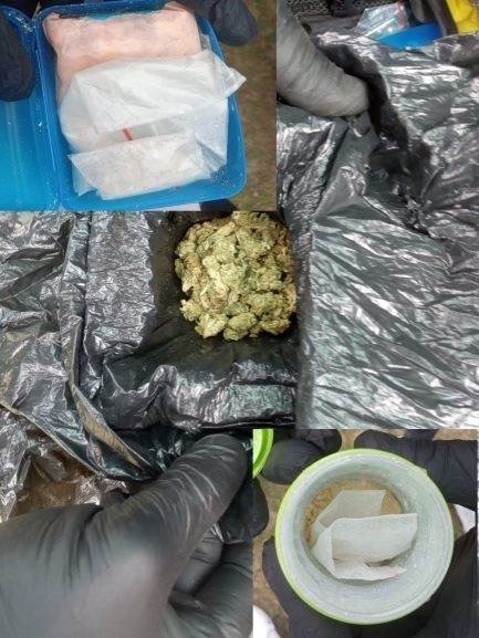 Policja ujawniła przy zatrzymanym narkotyki.