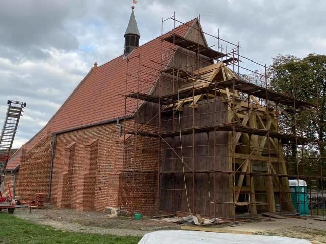 Postępuje remont gotyckiego kościoła św. Barbary w Orłowie