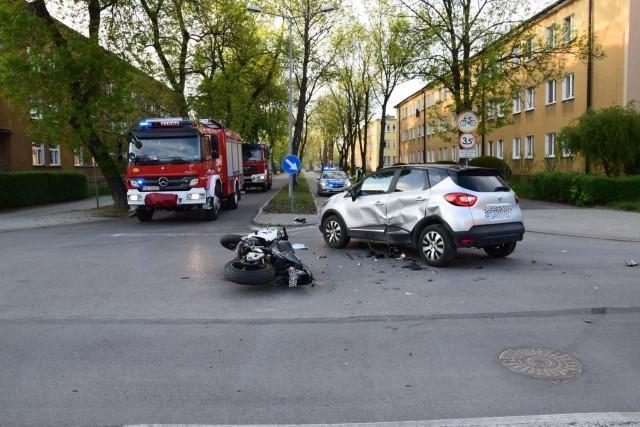 Wypadek na skrzyżowaniu ul. Traugutta i Ks. Indyka