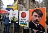 Gdańsk. Manifestacja przed konsulatem Rosji. Solidarność w obronie Ukrainy ZDJĘCIA