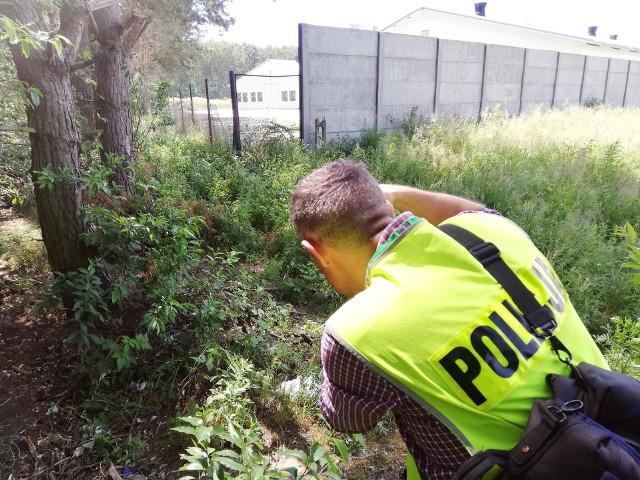 Na miejscu znaleziska była m.in. policja.