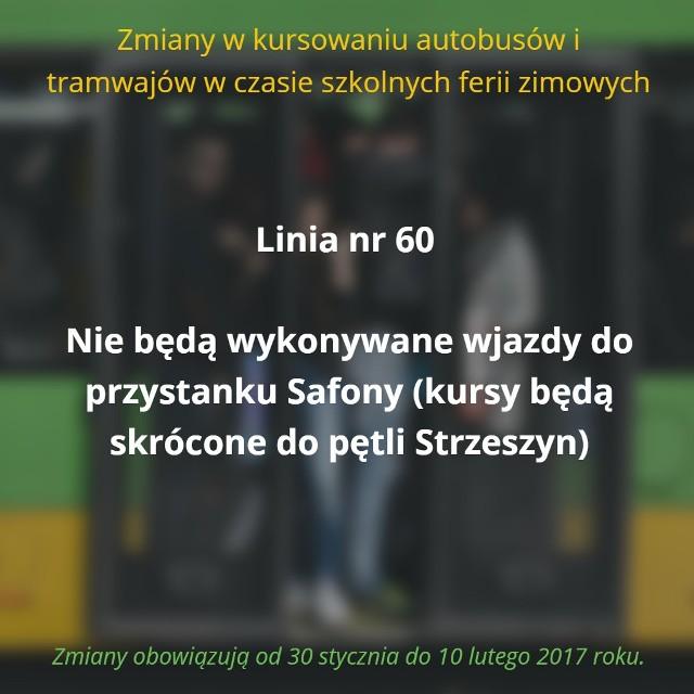 W czasie trwania ferii zimowych, czyli od 30 stycznia do 10 lutego 2017 roku, w Poznaniu zawieszone zostaną tzw. kursy szkolne. Oto pełna lista zmian.Przejdź do kolejnego slajdu --->