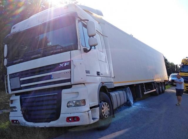 Kierowca tej ciężarówki jadącej opolskim odcinkiem autostrady A4 miał ponad 3 promile.