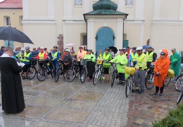Uczestnicy strzeleńskiej pielgrzymki rowerowej na Jasną Górę w Częstochowie