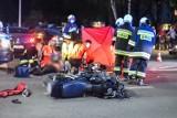 Śmiertelny wypadek w Lesznie. Tragedia na skrzyżowaniu - zginął 47-letni motocyklista, jego 19-letnia córka jest poważnie ranna