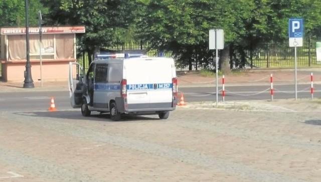 Parking przy Placu Kościuszki był zamknięty od godziny 8