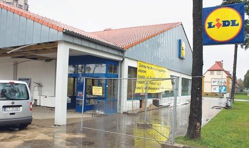 Białogardzki Lidl w remoncie. Ponowne otwarcie obiektu już 18 października.