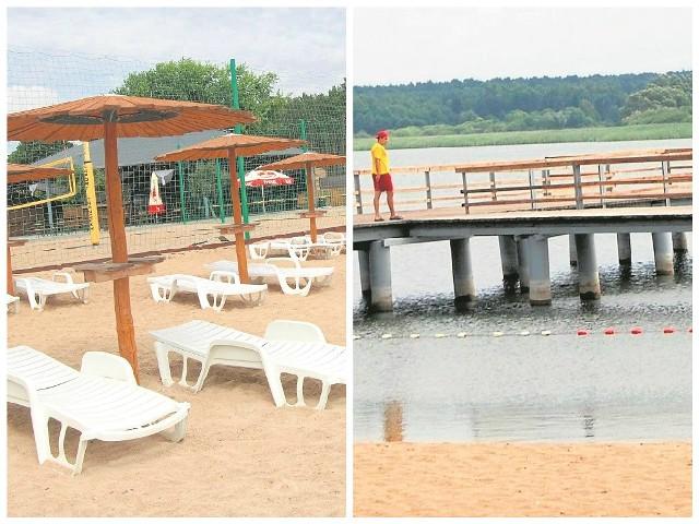 Na plażę można było wejść. I to za darmo, bo przy wejściu nikt wczoraj nie kasował opłaty. Chętnych jednak nie było. Ratownik na pomoście przyglądał się wodzie w jeziorze. Z brzegu nie było widać piany, ani też innych zanieczyszczeń.