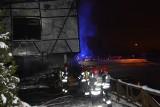 """Właściciele spalonej restauracji """"Myśliwska"""" w Skarżysku dziękują policji, straży pożarnej i innym służbm"""