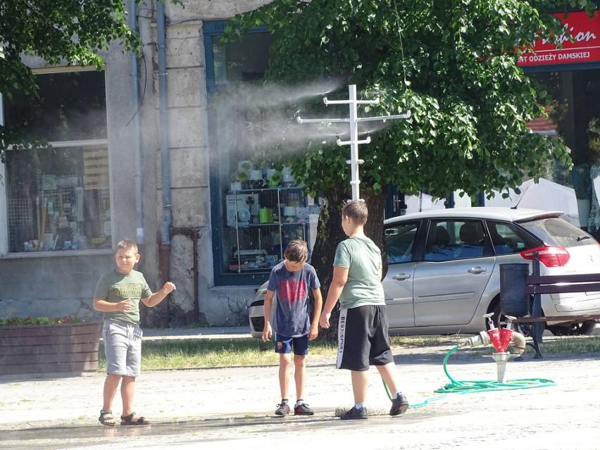 Kurtyna wodna na starówce w Chełmnie