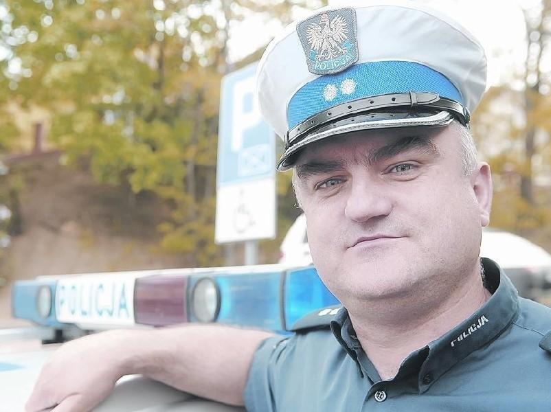 Podkomisarz Dariusz Wróblewski jest naczelnikiem Wydziału Ruchu Drogowego Komendy Miejskiej Policji w Gorzowie.