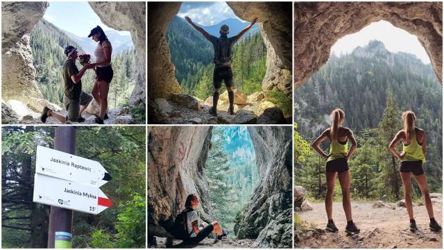 """Nie Giewont, nie Rysy ani nawet nie Rusinowa Polana... Tegoroczne wakacje pokazały, że w Tatrach jest nowe miejsce, na punkcie którego dosłownie zwariowali Instagramerzy! To Jaskinia Mylna a dokładnie jedno z """"Okien Pawlikowskiego"""" czyli malownicza grota skalna z której rozpościera się przepiękny widok na okoliczne szczyty. Po tym jak w internecie ogłoszono, że to jedno z najlepszych w Tatrach zdjęć na robienie """"sweetfotek"""" i innych zdjęć do mediów społecznościowych tą część Doliny Kościeliskiej dosłownie okupują turyści z aparatami w ręce. Musimy jednak przyznać, że faktycznie zdjęcie w takim miejscu to jest coś!Przesuwaj zdjęcia w prawo - naciśnij strzałkę lub przycisk NASTĘPNEZOBACZ ZDJĘCIA >>>"""