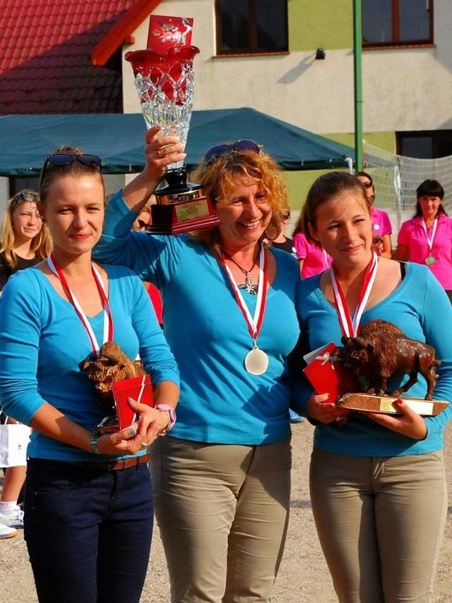 Mistrzynie Polski 2012 (od lewej): Katarzyna Śliż, Wioletta Śliż i Joanna Kastelik