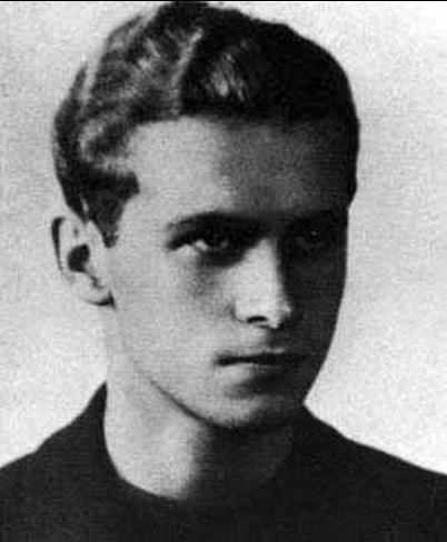 Krzysztof Kamil Baczyński - zdjęcie ze świadectwa maturalnego