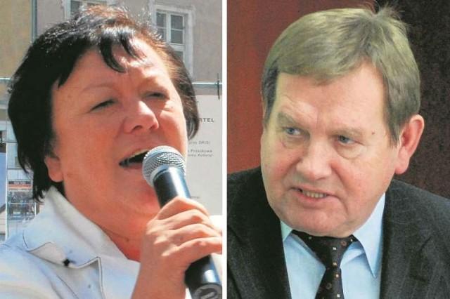 Róża Malik, wójt Prószkowa, stara się o czwartą kadencję.Dionizy Duszyński jest wójtem Popielowa od 25 lat.