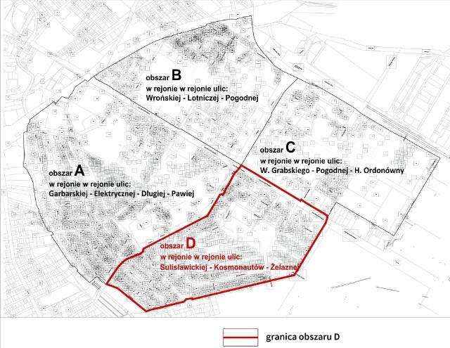 Rejon ulic: Sulisławicka, Kosmonautów, Żelazna w Lublinie