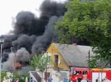 Wągrowiec: Pożar w Grylewie. Dym widać z daleka