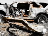 Seria pożarów samochodów w Malborku. Spłonęło 5 pojazdów w okresie 26.05-3.06.2021 r.! Policjanci ustalają, czy doszło do podpalenia