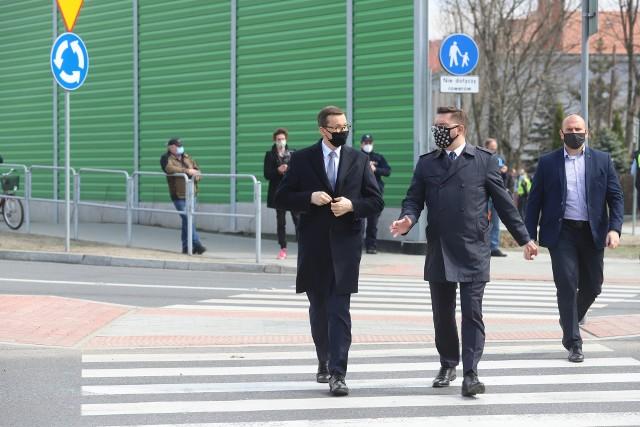 Otwarcie węzła Piotrowice w Katowicach z udziałem premiera Mateusza Morawieckiego.Zobacz kolejne zdjęcia. Przesuwaj zdjęcia w prawo - naciśnij strzałkę lub przycisk NASTĘPNE
