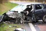Wypadek na drodze 871 relacji Stalowa Wola - Tarnobrzeg. W zderzeniu opla z ciężarówką ranny został 47-letni kierowca auta osobowego!