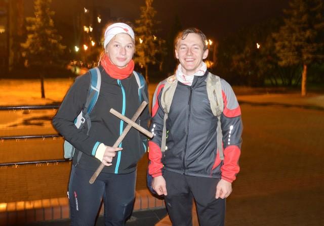 Natalia Czech i Florian Kasprzyk przed wyruszeniem w drogę.