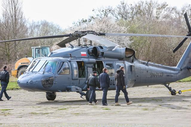 Policyjny helikopter Black Hawk już odleciał ze Szczecina
