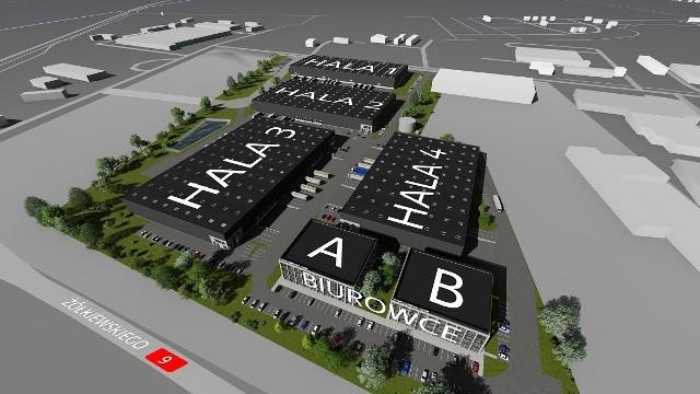 Tak będzie wyglądał nowy kompleks przemysłowy TG Park przy ulicy Żółkiewskiego w Radomiu.