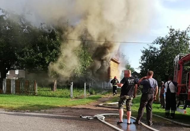 Pożar w miejscowości Kojły