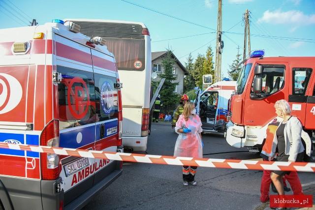 Wypadek autobusów w Pankach