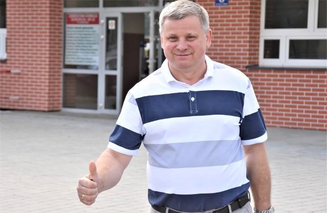 Oświęcimianin Leszek Kraszewski oddał głos w Obwodowej Komisji Wyborczej nr 22.