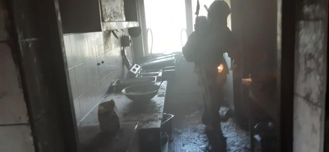 """Pożar w restauracji """"Beka"""" w Pucku 29.07.2019"""