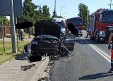 Uwaga! Groźny wypadek w Jeninie pod Gorzowem. Dwie osoby trafiły do szpitala
