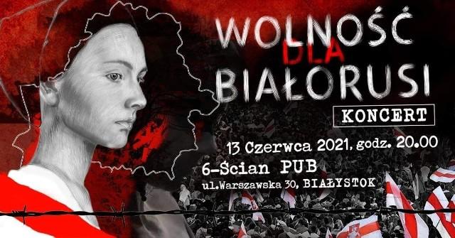 W koncercie dla Białorusi wystąpią m.in. Piotr Czaban z kapelą Roki, Maleo, Oleg Kobzar i Adam Romanoff. W przerwach między występami będą dyskusje i relacje wideo.