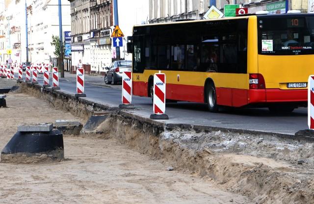 Autobusy MZK od poniedziałku 2 sierpnia nie będą już kursowały remontowanym odcinkiem ulicy Chełmińskiej w Grudziądzu