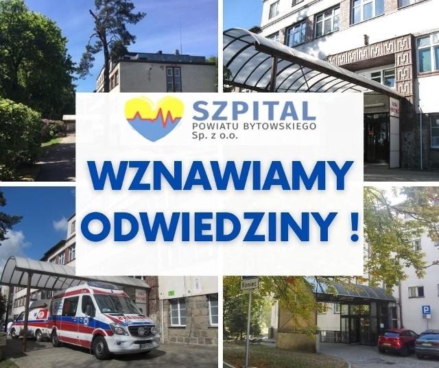 Szpital w Bytowie wznowił odwiedziny. Są zasady.