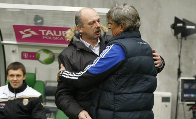 Stanislav Levy (z lewej) z Górnikiem Nawałki grał dwa razy. W Zabrzu przegrał 1:4, ale we Wrocławiu wygrał 2:1