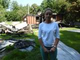 """Antonin. Spalił się dom z programu """"Nasz nowy dom"""". Samotna matka z dwójką dzieci straciła dorobek całego życia. Potrzebna pomoc [ZDJĘCIA]"""