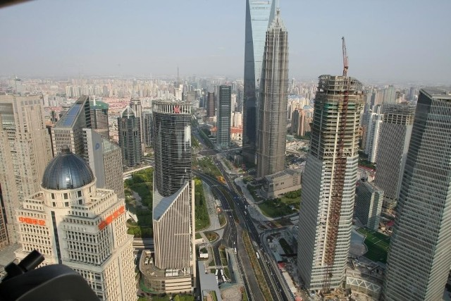 Pudong, to dzielnica finansowa Szanghaju, w której można znaleźć trzeci najwyższy wieżowiec świata. fot. Dawid Łukasik