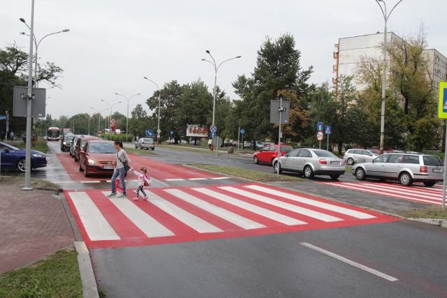 Interaktywne przejście dla pieszych w Sosnowcu