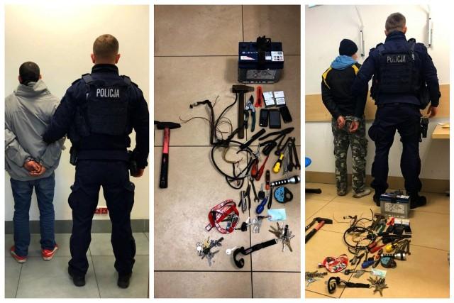 Policjanci z Oddziału Prewencji w Białymstoku zatrzymali dwóch złodziei na parkingu