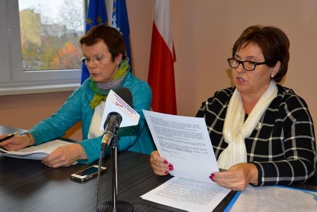 Była poseł Platformy Obywatelskiej Renata Butryn (z prawej) i Małgorzata Czwarno-Sieroń