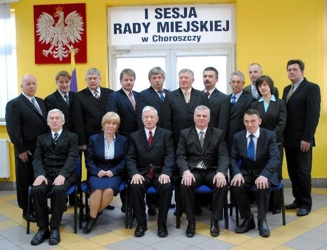 Rada Miejska w Choroszczy w nowym składzie.