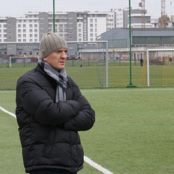 Mirosław Dymek, trener Sokoła Sokólka Okna i Drzwi