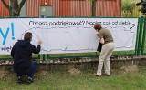 Złóż życzenia pielęgniarkom na... banerze! Taki zawisł przed szpitalem w Gorzowie Wielkopolskim