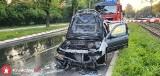 Trzy zastępy straży pożarnej gasiły samochód na ulicy Mikołajczyka. W zdarzeniu nikt nie ucierpiał [ZDJĘCIA]